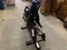 SOLID WOODEN MAHOGANY ROCKING HORSE L110 X W45 X H90 RRP £1195