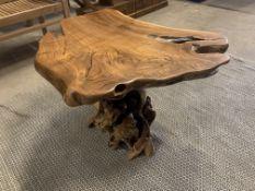 SOLID WOODEN TEAK ROOT MUSHROOM TABLE L100 X W65 X H55 RRP £595