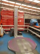 2016 ATLANTA FULL 115 DYNAMIC HIGHLINE TURNTABLE PALLET WRAPPING MACHINE WITH RAMP. 2.4M MAST