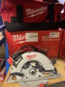 MILWAUKEE M18 BLCS66-401B 190MM 18V 4.0AH LI-ION REDLITHIUM BRUSHLESS CORDLESS CIRCULAR SAW COMES