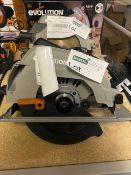 EVOLUTION R185CCSL240 1200W 185MM ELECTRIC CIRCULAR SAW 220-240V COMES WITH BOX (UNCHECKED)