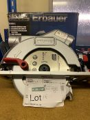 ERBAUER ECS18-LI 165MM 18V LI-ION EXT BRUSHLESS CORDLESS CIRCULAR SAW COMES WITH BOX (UNCHECKED)