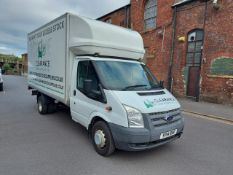 YP14 RHF - 2014 FORD TRANSIT LUTON VAN WITH TAIL LIFT. COMES WITH ELECTRIC WINDOWS, CENTRAL LOCKING,