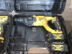 DEWALT DCH033 TYPE 1 BRUSHLESS CORDLESS SDS DRILL COMES WITH 2 BATTERIES AND CARRY CASE (UNCHECKED)