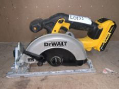 DEWALT DCS391 165MM 18V LI-ION XR CORDLESS CIRCULAR SAW COMES WITH BATTERY (UNCHECKED)