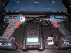 ERBAUER EDD12-LI-2 12V 2.0AH LI-ION CORDLESS TWIN PACK COMES WITH 2 BATTERIES, CHARGER AND CARRY