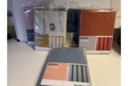 PALLET TO CONTAIN 96 x NEW PACKAGED GOODHOME BLACKOUT CURTAINS IN ASSORTED DESIGNS & SIZES. RRPs