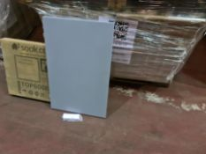 (L155) PALLET TO CONTAIN 45 x NEW BOXED MELBOURNE 600MM MATT GREY VANITY UNIT TOP BOARDS