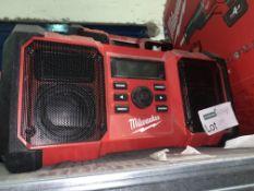 MILWAUKEE SITE RADIO (UNCHECKED / UNTESTED )