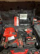 MILWAUKEE M18 CBLPP2A-402C 18V 4.0AH LI-ION REDLITHIUM BRUSHLESS CORDLESS COMBI DRILL & IMPACT