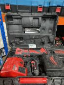 MILWAUKEE M18 BMT MULTI TOOL COMES WITH 2 BATTERIES, CHARGER AND CARRY CASE (UNCHECKED)