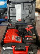MILWAUKEE M18 CBLPD-402C 18V 4.0AH LI-ION REDLITHIUM BRUSHLESS CORDLESS COMBI DRILL COMES WITH 2