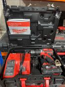 MILWAUKEE M18 BPDN-402C 18V 4.0AH LI-ION REDLITHIUM CORDLESS COMBI DRILL COMES WITH BATTERY, CHARGER