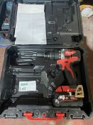 MILWAUKEE M18 CBLPD-402C 18V 4.0AH LI-ION REDLITHIUM BRUSHLESS CORDLESS COMBI DRILL COMES WITH