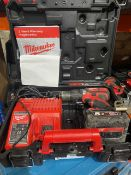 MILWAUKEE M18 BPDN CORDLESS COMBI DRILL COMES WITH BATTERY CHARGER AND CARRY CASE (UNCHECKED)