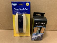 26 X BRAND NEW SHOE BRUSH SETS IN 2 DESIGNS
