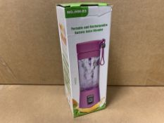 18 X BRAND NEW PORTABLE AND RECHARGEABLE BATTERY JUICE BLENDERS