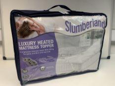 8 X BRAND NEW SLUMBERLAND DOUBLE SIZE LUXURY HEATED MATTRESS TOPPERS
