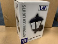 8 X BRAND NEW LAP BLACK OUTDOOR LED WALL LIGHTS