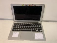 APPLE MACBOOK AIR, INTEL CORE i5, BIG SUR OPERATING SYSTEM, 120GB SSD HARD DRIVE WITH CHARGER