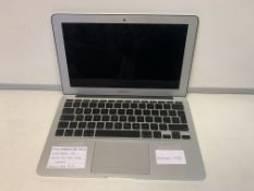 APPLE MACBOOK AIR LAPTOP, HIGH SIERRA OPERATING SYSTEM, 120GB SSD HARD DRIVE WITH CHARGER
