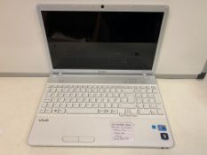 SONY VPCEBIEDE LAPTOP, INTEL CORE i3, 2.13GHZ, WINDOWS 10, 250GB HDD WITH CHARGER