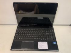 SONY SVE151511M LAPTOP, INTEL CORE i3-3110M, 2,4GHZ, WINDOWS 10, 320GB HARD DRIVE WITH CHARGER