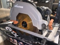 EVOLUTION R185CCSL240 1200W 185MM ELECTRIC CIRCULAR SAW 220-240V COMES WITH BOX (UNCHECKED) (99/20)