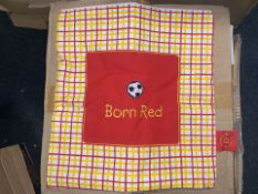 280 X BRAND NEW MANCHESTER UNITED BORN RED CUSHION COVERS (126/20)