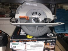 EVOLUTION R185CCSL240 1200W 185MM ELECTRIC CIRCULAR SAW 220-240V COMES WITH BOX (UNCHECKED) (115/