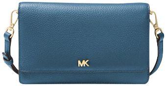 BRAND NEW MICHAEL KORS DARK CHAMBRAY MOTT PHONE BLUE CROSSBODY BAG RRP £90 (152569)