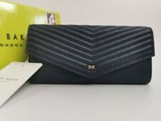 BRAND NEW TED BAKER DARK BLUE QUILTED ENVELOPE MATINEE RRP £90 (50233/4)