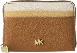 BRAND NEW MICHAEL KORS TAN/CREAM COIN CARD CASE LEATHER ZA RRP £80 (14374)