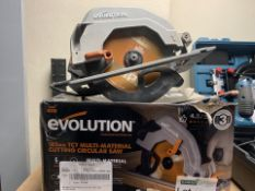 EVOLUTION R185CCSL240 1200W 185MM ELECTRIC CIRCULAR SAW 220-240V COMES WITH BOX (UNCHECKED) (66/20)