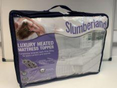 8 X BRAND NEW SLUMBERLAND DOUBLE SIZE LUXURY HEATED MATTRESS TOPPERS (11/20)