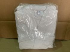 8 X BRAND NEW WHITE SHAWL COLLAR ROBES SIZE LARGE