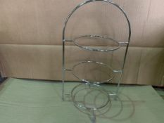 11 X BRAND NEW UTOPIA 3 TIER CAKE PLATE STANDS 42CM FOR 3 X 23CM PLATES RRP £67 EACH