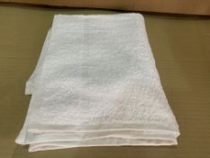 72 X BRAND NEW WHITE PLAIN HEADER HAND TOWELS 50 X 90CM