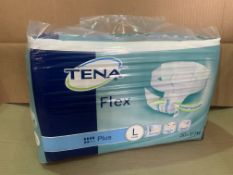 12 X BRAND NEW PACKS OF 30 TENA FLEX PLUS PADS SIZE LARGE