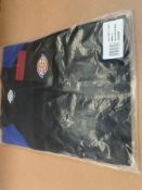 15 X BRAND NEW DICKIES TWO TONE BLACK AND BLUE SMALL T SHIRTS (229/27)