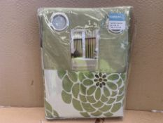 8 X BRAND NEW LYDIA GARDEN EMBELLISHED LINED CURTAINS 168 X 137CM (205/27)