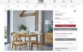 4 X NEW BOXED OSCAR SOLID OAK DINING CHAIRS. SET RRP £640. With its contemporary, yet versatile