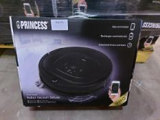 PALLET TO CONTAIN 8 x Princess 339000 Deluxe Smart Robot Vacuum Cleaner, App and Smart Control,