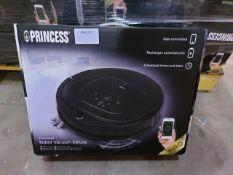 3 x Princess 339000 Deluxe Smart Robot Vacuum Cleaner, App and Smart Control, Black. RRP £349.99