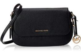 BRAND NEW MICHAEL KORS BEDFORD LEGACY BLACK LARGE FLAP CROSSBODY BAG (2565) RRP £239