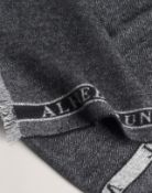 BRAND NEW ALFRED DUNHILL GREY CASHMERE HERRINGBONE SCARF (4099) RRP £285-2