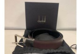 BRAND NEW ALFRED DUNHILL BROWN 35MM BELT (0647) RRP £345 -5 SP