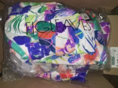 11 X BRAND NEW INDIVIDUALLY PACKAGED FIGLEAVES WHITE FLORAL SANTA MONICA UNDERWIRED HALTER BOYLEG