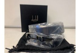 BRAND NEW ALFRED DUNHILL CHASSIS BLACK SMOOTH BELT (6652) RRP £295 SP