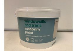 PALLET TO CONTAIN 96 X NEW 2.5L TUBS OF GOODHOME MASONRY PAINT. RESISTANT TO STANDING SURFACE WATER.